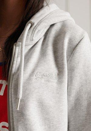 Zip-up sweatshirt - light grey marl