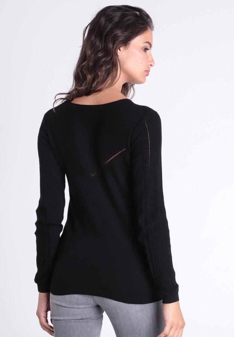 BONOBO Jeans Strickpullover - black/schwarz GMTttX