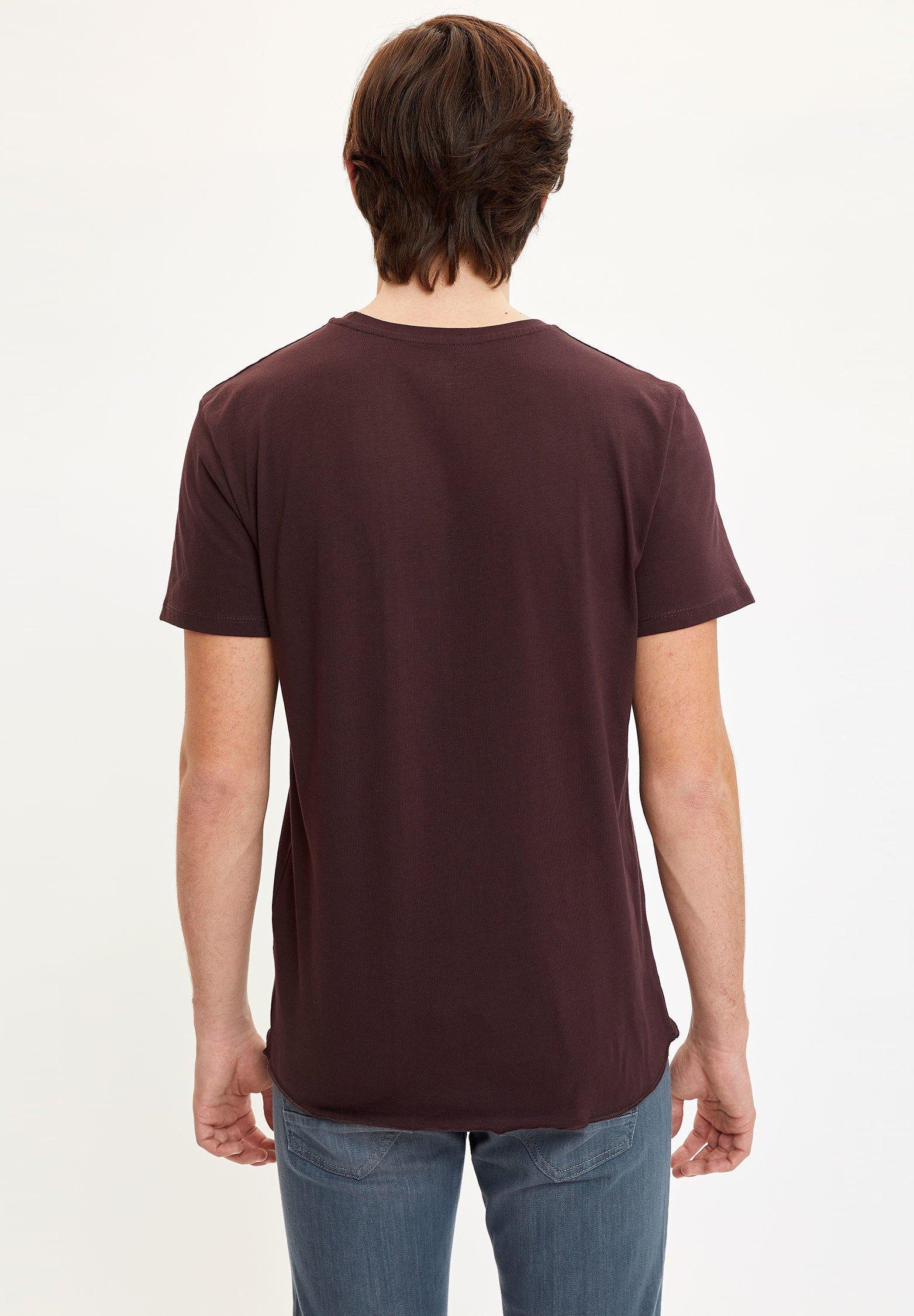 DeFacto Print T-shirt - bordeaux nlupj