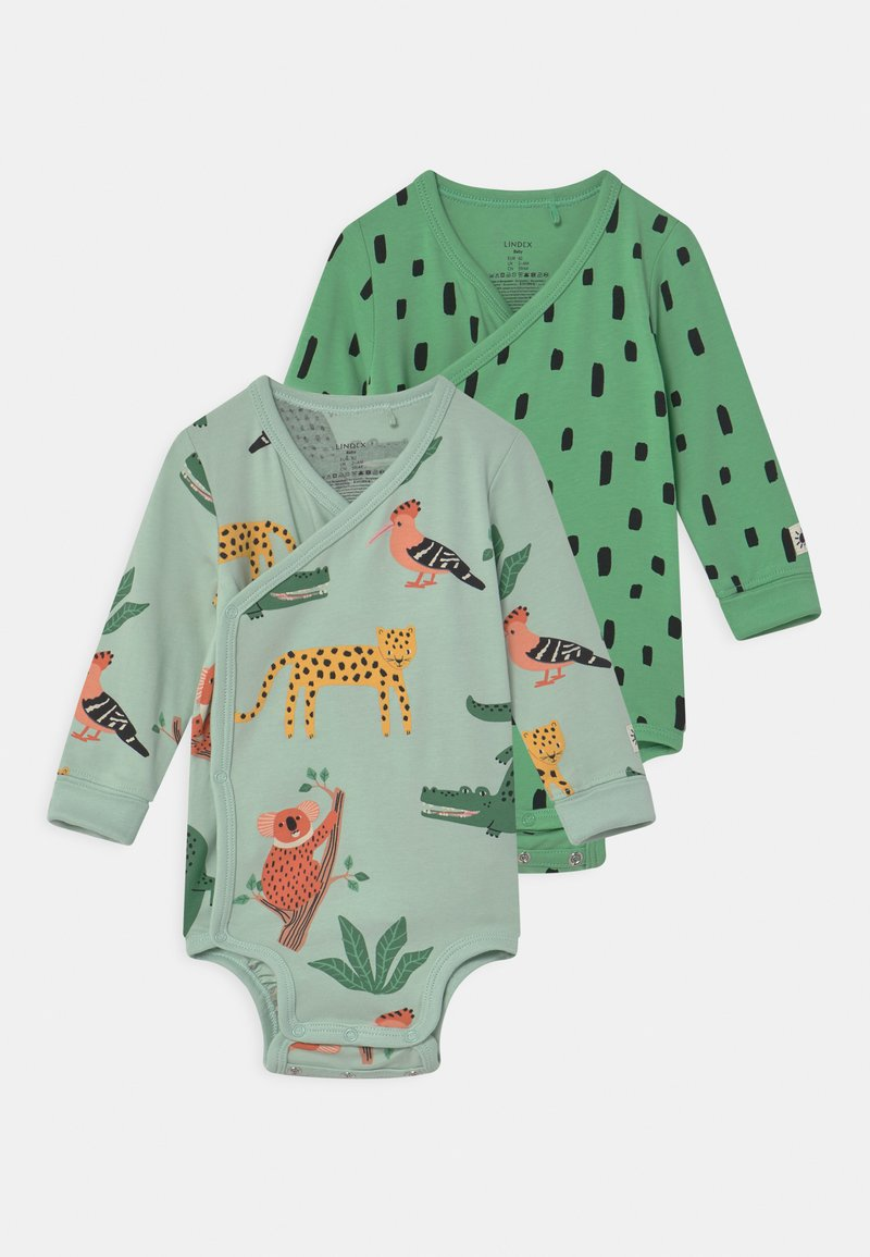 Lindex - WRAP ANIMAL 2 PACK UNISEX - Body - green