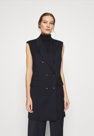 MAGRETHE WAISTCOAT - Shirt dress - navy