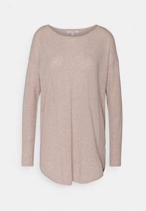 EASY LONG - Jumper - cozy beige melange