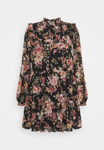 SIMONA RUFFLE SMOCK DRESS - Skjortekjole - midnight wildflower