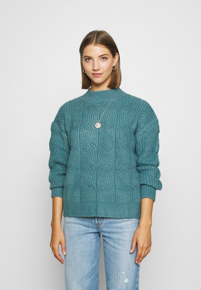YOUNG LADIES SWEATER - Strikkegenser - blue