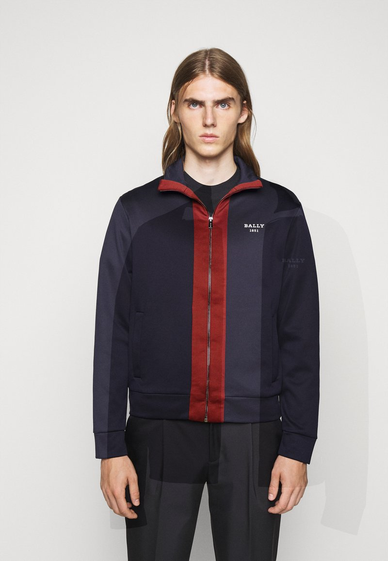 Bally - Cardigan - ink/red
