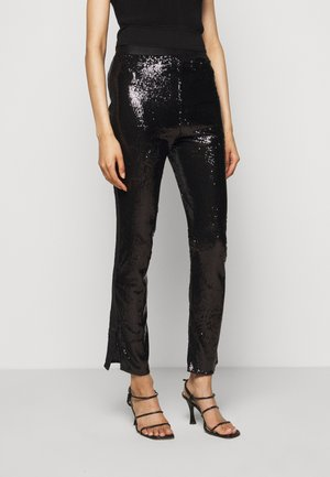 GLITZER PAILETTEN - Leggings - Trousers - total black