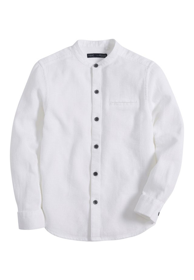 LONG SLEEVE TEXTURED (3-16YRS) - Camicia - white