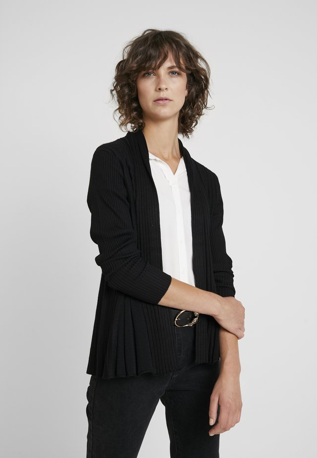CLAUDISSE CAR - Chaqueta de punto - black