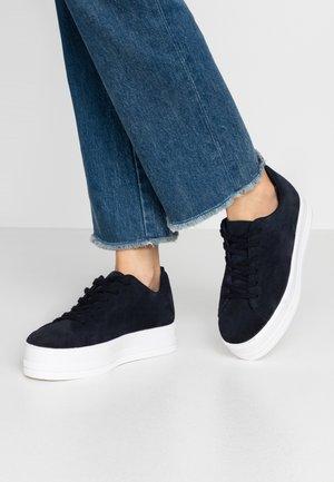 LEATHER - Sneakers - dark blue