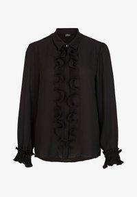 s.Oliver BLACK LABEL - MET GEPLOOIDE VOLANTS - Button-down blouse - black - 5