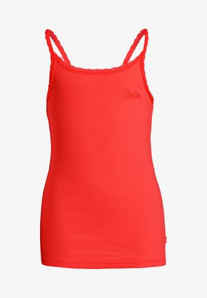 MIT SPITZE - Top - bright red