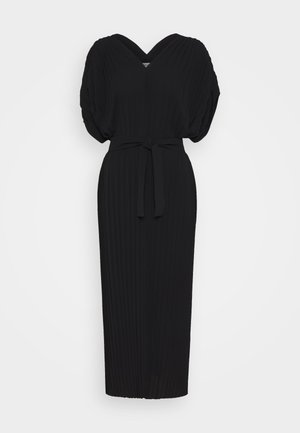 NEW JELLY DRESS PLISSE - Day dress - black