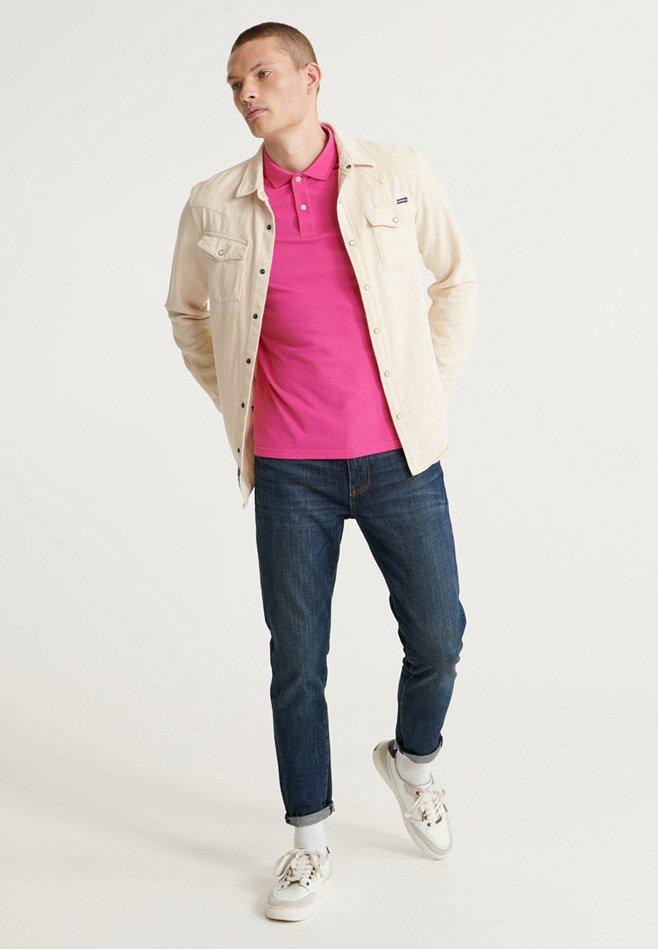 Superdry Koszulka Polo - Shocking Pink