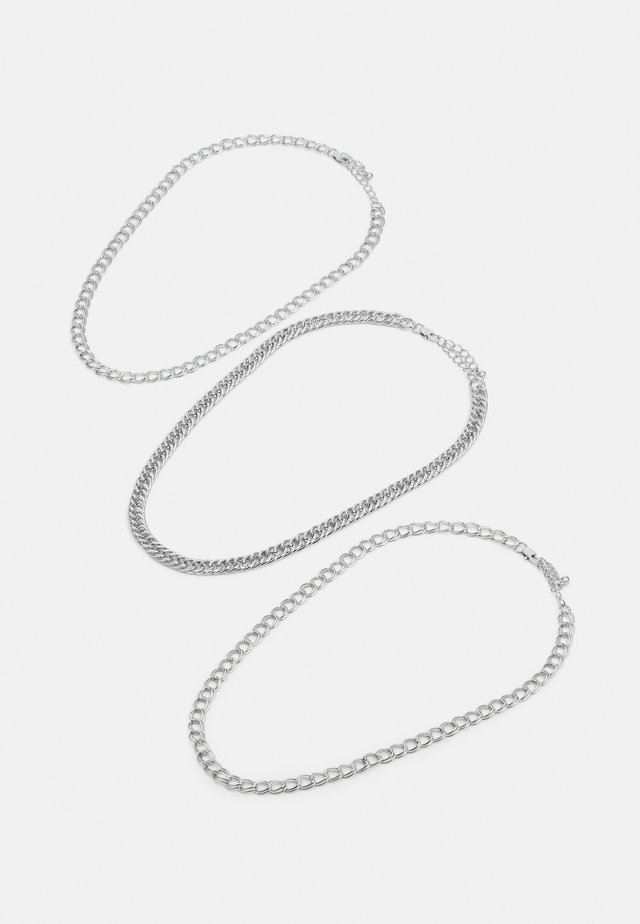 PCMALAU NECKLACE 3 PACK - Naszyjnik - silver-coloured