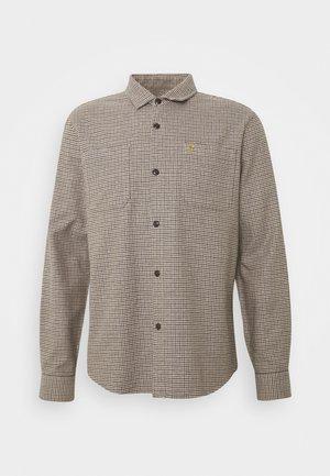 DEKKER CHECK OVERSHIRT - Shirt - beige