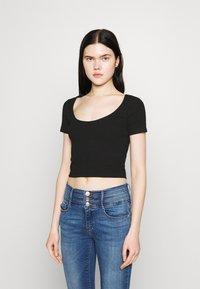 Even&Odd - 3 PACK - Camiseta estampada - black/white/mottled light grey - 4