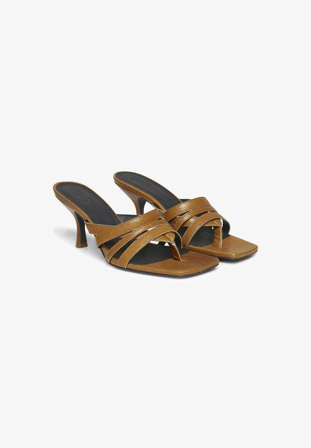 HEELED  - Sandalen met sleehak - bone brown