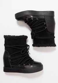 Shoe The Bear - TRISH - Wedge Ankle Boots - black - 3