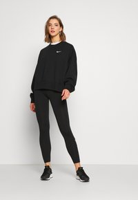Nike Sportswear - CLUB  - Leggings - Trousers - black/white - 1