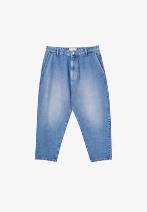 Džíny Relaxed Fit - mottled dark blue