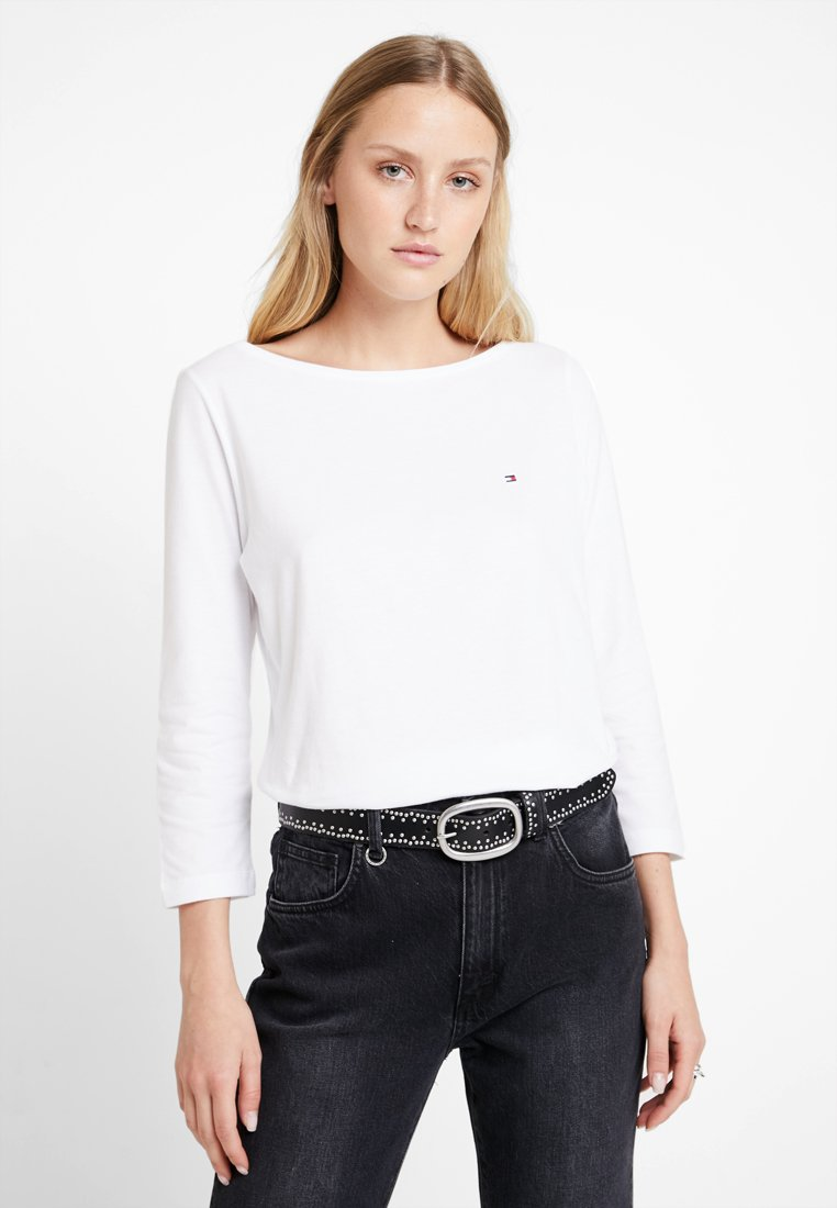 Tommy Hilfiger - NEW TILLY BOAT TEE - Long sleeved top - white