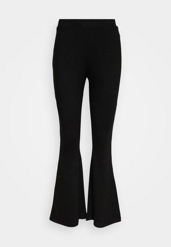 Leggings - Flared Leg Trousers - Legginsy - black