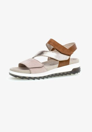 Sandalen met sleehak - a-rosa/musch/pean.
