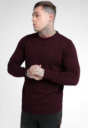 CREW - Stickad tröja - burgundy