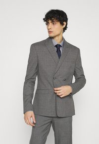 Isaac Dewhirst - CHECK DOUBLE BREASTED SUIT - Oblek - grey - 2