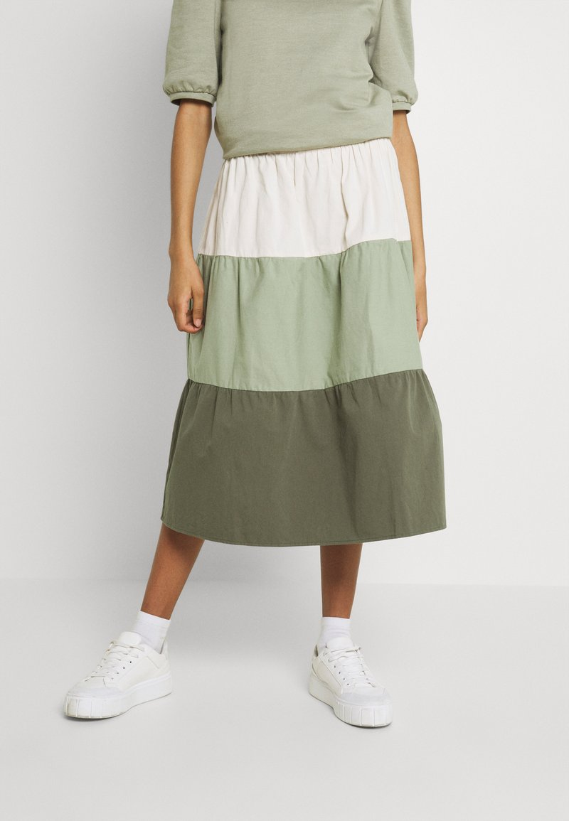 b.young - BXJONA SKIRT - A-line skirt - seagrass mix