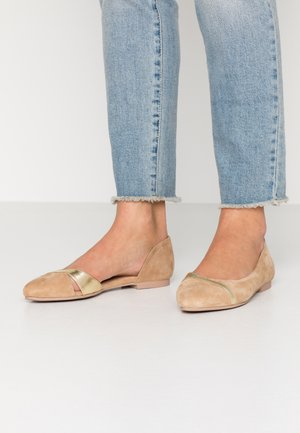 LEATHER  - Ballet pumps - beige