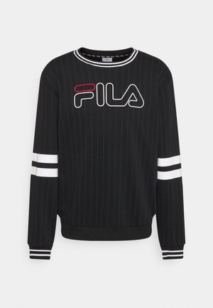 JAMY STRIPED SPORTY CREW - Sweatshirts - black