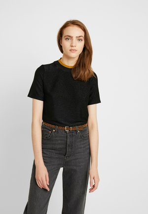 TEE WITH HIGH NECK - T-shirts med print - black
