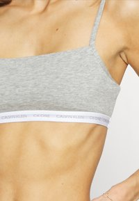 Calvin Klein Underwear - CK ONE UNLINED BRALETTE 2 PACK - Bustino - grey heather/glass tiger print - 6