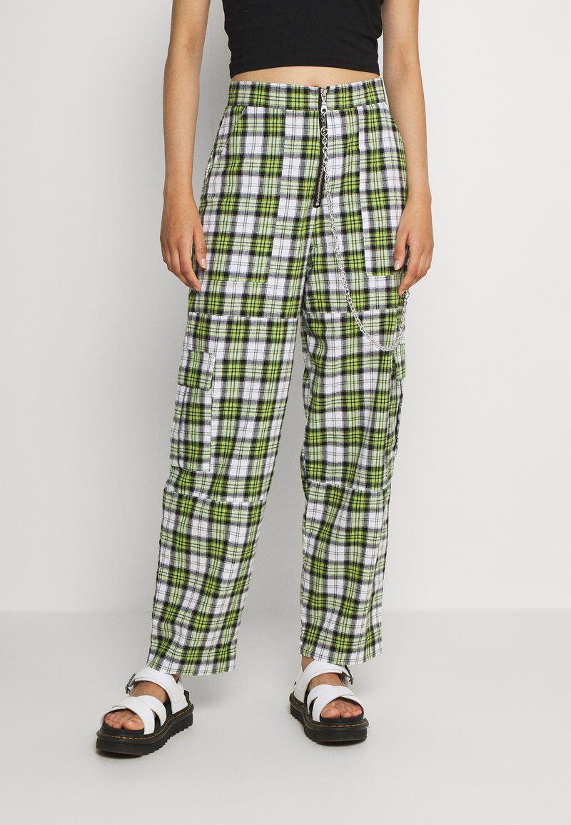 The Ragged Priest - GRANGER - Trousers - green/white