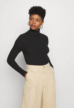 ROLL NECK JUMPER - Jumper - black