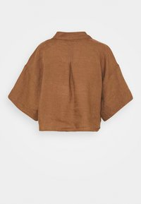Gina Tricot - WELLIE LINEN SHIRT - Button-down blouse - raw umber - 1