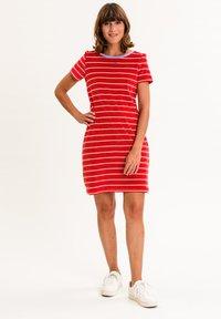 UVR Berlin - ELININA - Jersey dress - rot mit streifen - 1