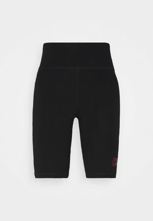 OMBRE LOGO HIGH WAIST BIKE SHORT POCKETS - Leggings - black