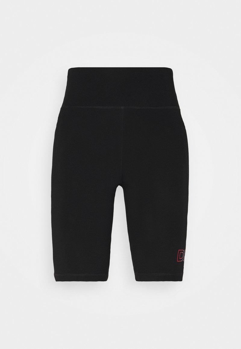 DKNY - OMBRE LOGO HIGH WAIST BIKE SHORT POCKETS - Collants - black