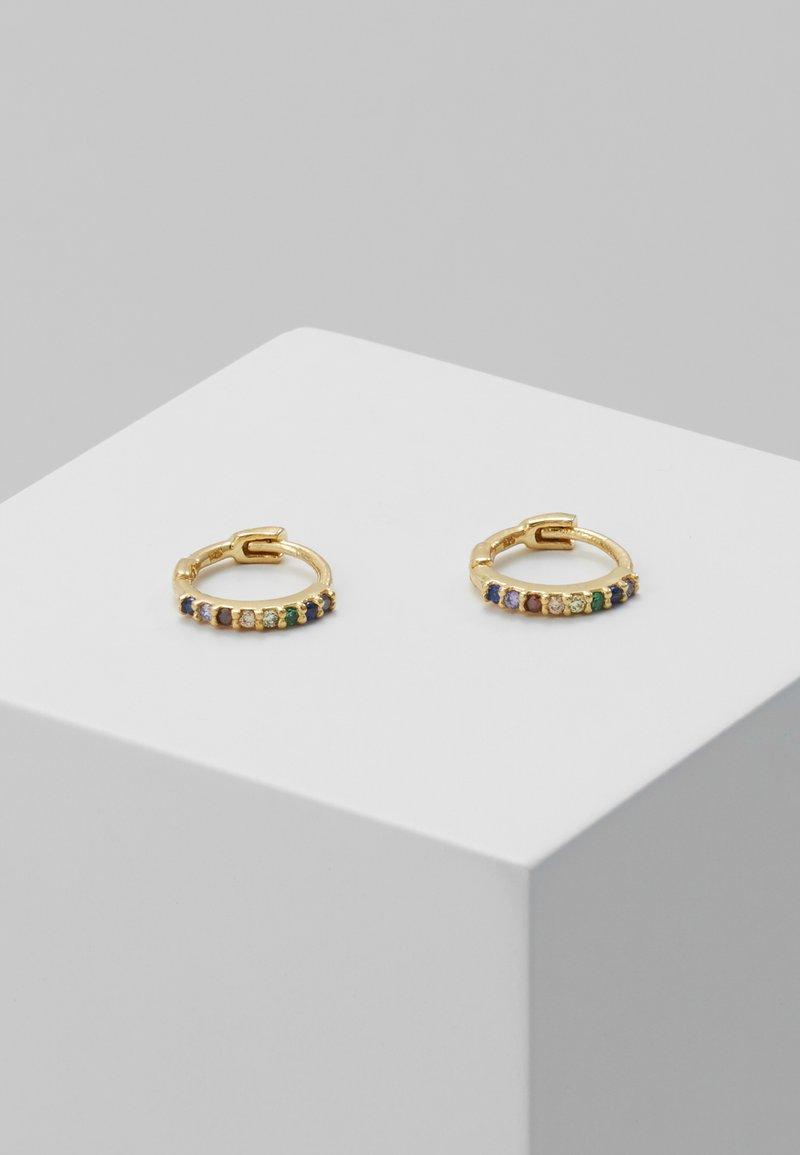 Astrid & Miyu - RAINBOW HUGGIES - Earrings - gold-coloured