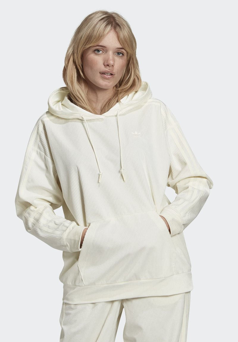 adidas Originals - SPORTS INSPIRED HOODED SWEAT - Felpa con cappuccio - owhite