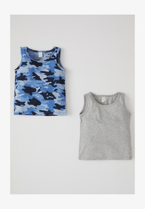 Top - grey / blue