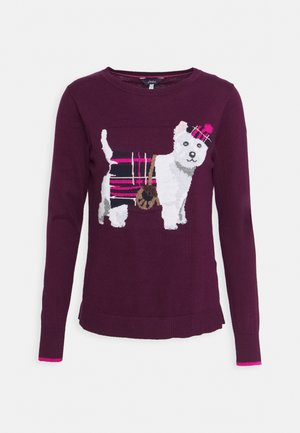 MIRANDA - Strickpullover - purple dog