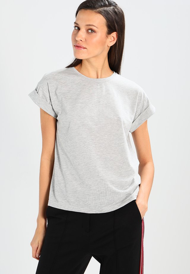 ALVA TEE - T-shirt basique - mottled light grey