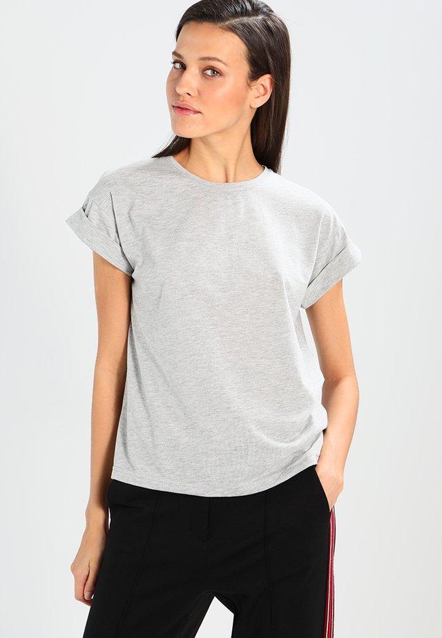ALVA TEE - Basic T-shirt - mottled light grey