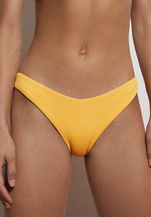 HOCH GESCHNITTENER  - Bikini bottoms - yellow