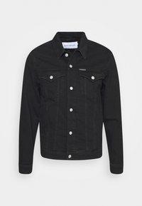 Calvin Klein Jeans - FOUNDATION SLIM - Kurtka jeansowa - washed black - 4
