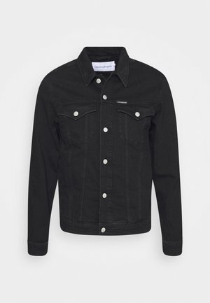 FOUNDATION SLIM - Denim jacket - washed black