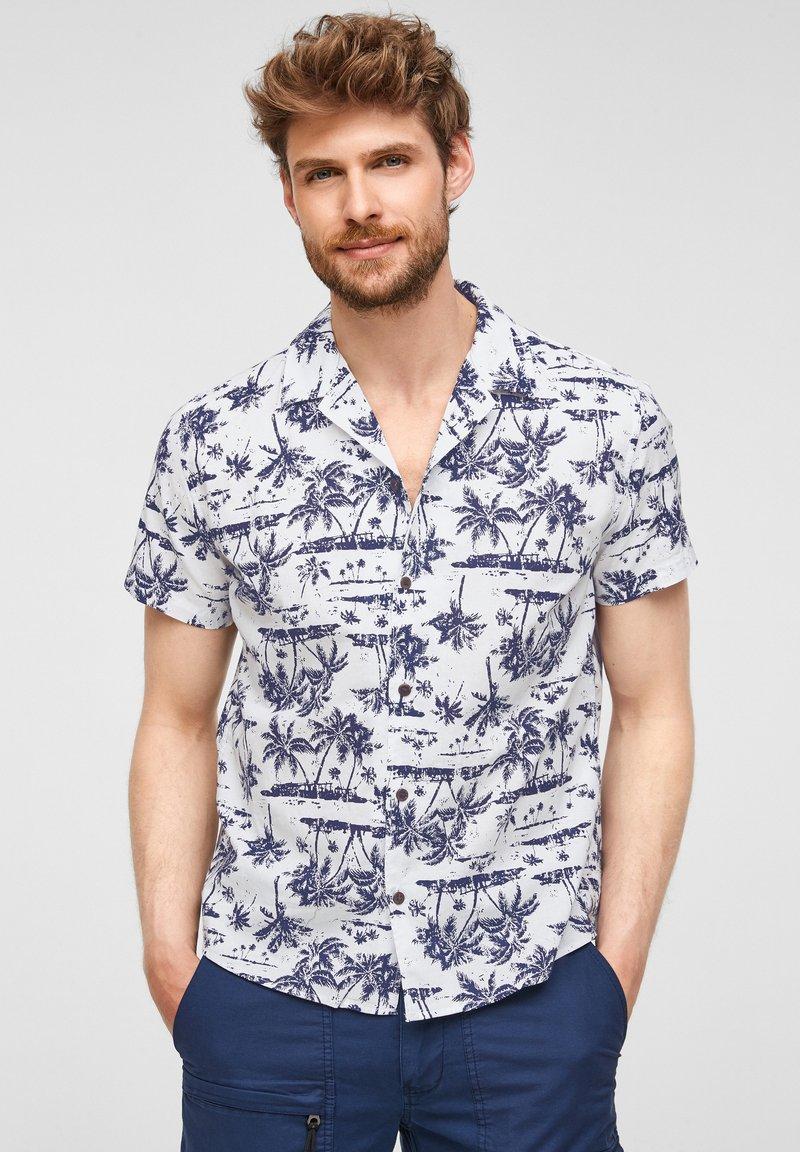 s.Oliver - Shirt - white aop